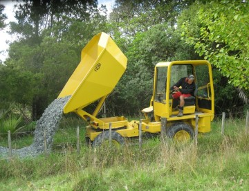 Pronto Hire Fiori Dumper tipping gravel