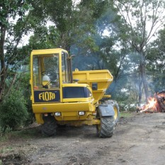 Pronto Hire Fiori D100 Dumper at bonfire site
